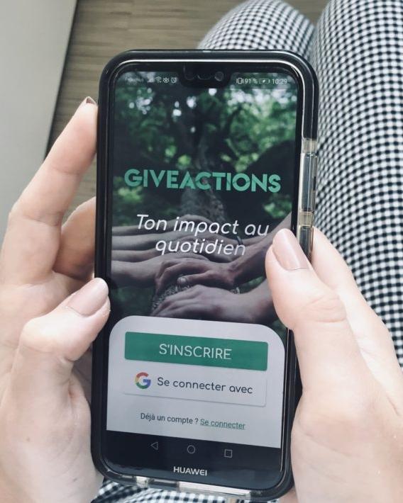 écran give actions