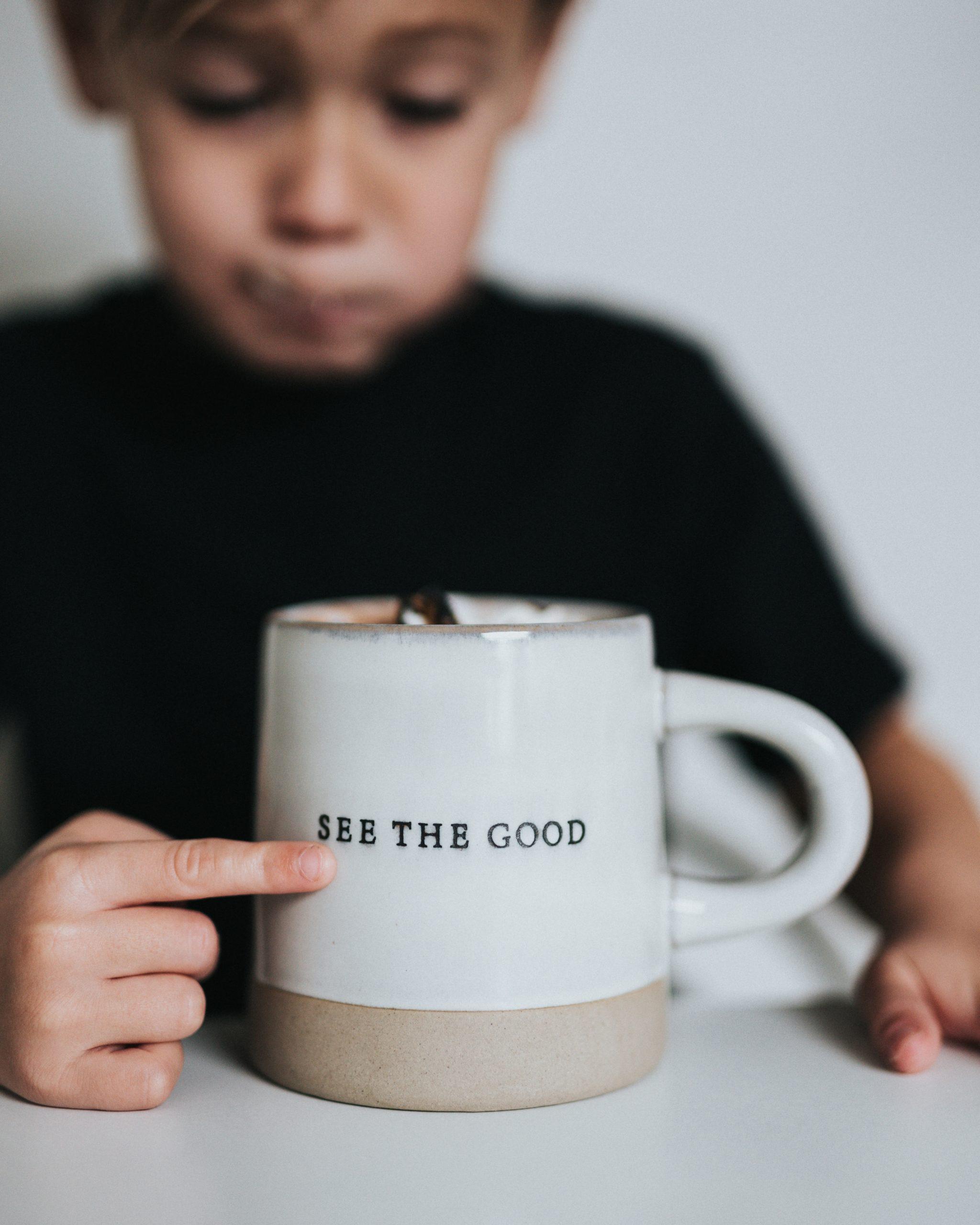 tasse see the good et enfant