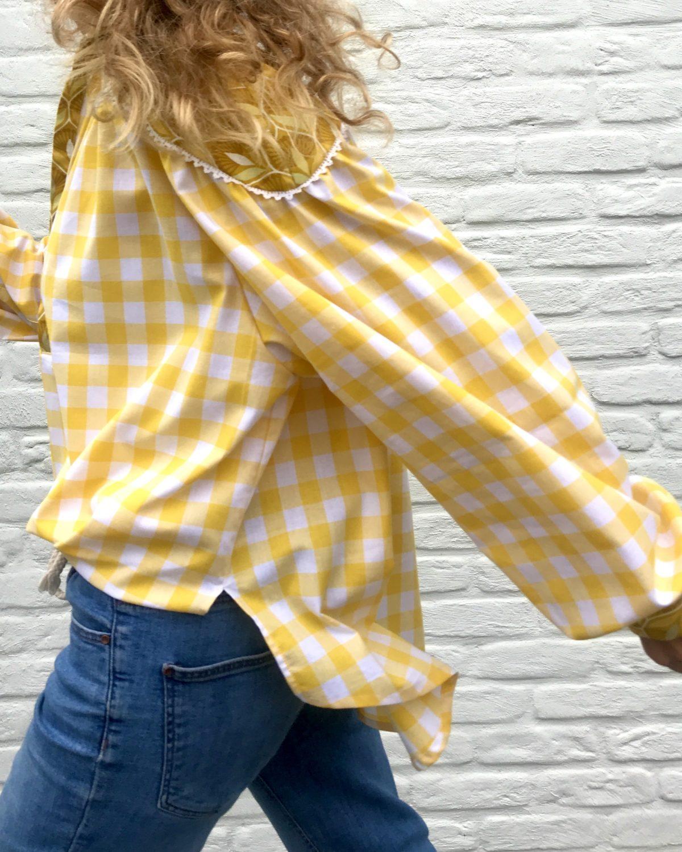 chemise carreau jaune